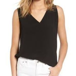Madewell Black Daybloom Popover Tank Top S